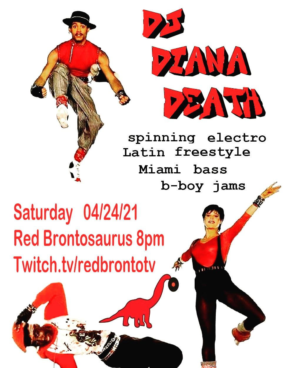 DJ Diana Death at Red Brontosaurus Records